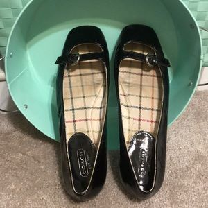 Coach patent leather shoes 7.5